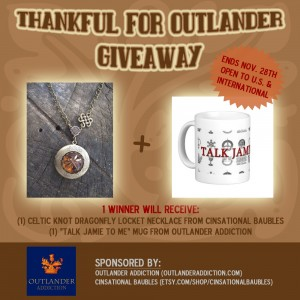 thankful for outlander giveaway